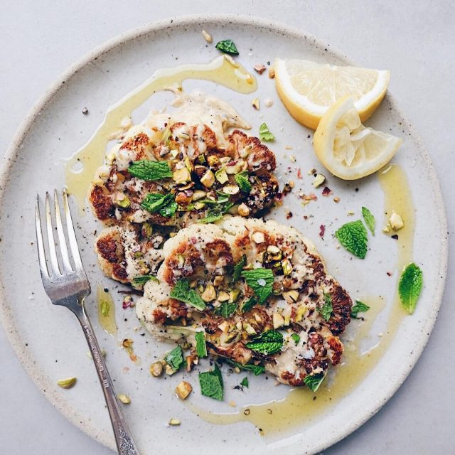 Wow! Cauliflower steaks Who knew theyd be so freaking goodhellip