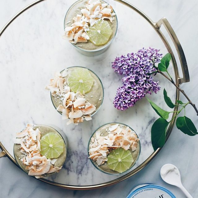 Excited to share the recipe for these Matcha Key Limehellip