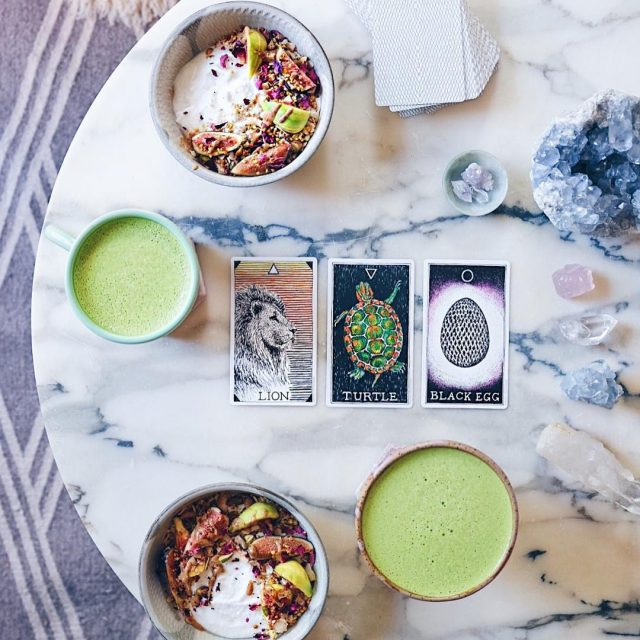 Matcha potions  coconut yogurt bowls with a side ofhellip