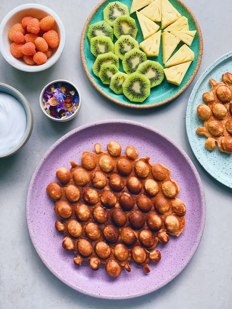 mango puffy waffles grain free wu haus portland alison wu