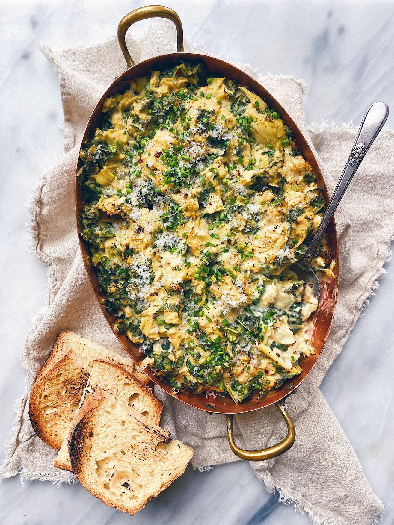 wu-haus-vegan-artichoke-kale-dip-baked