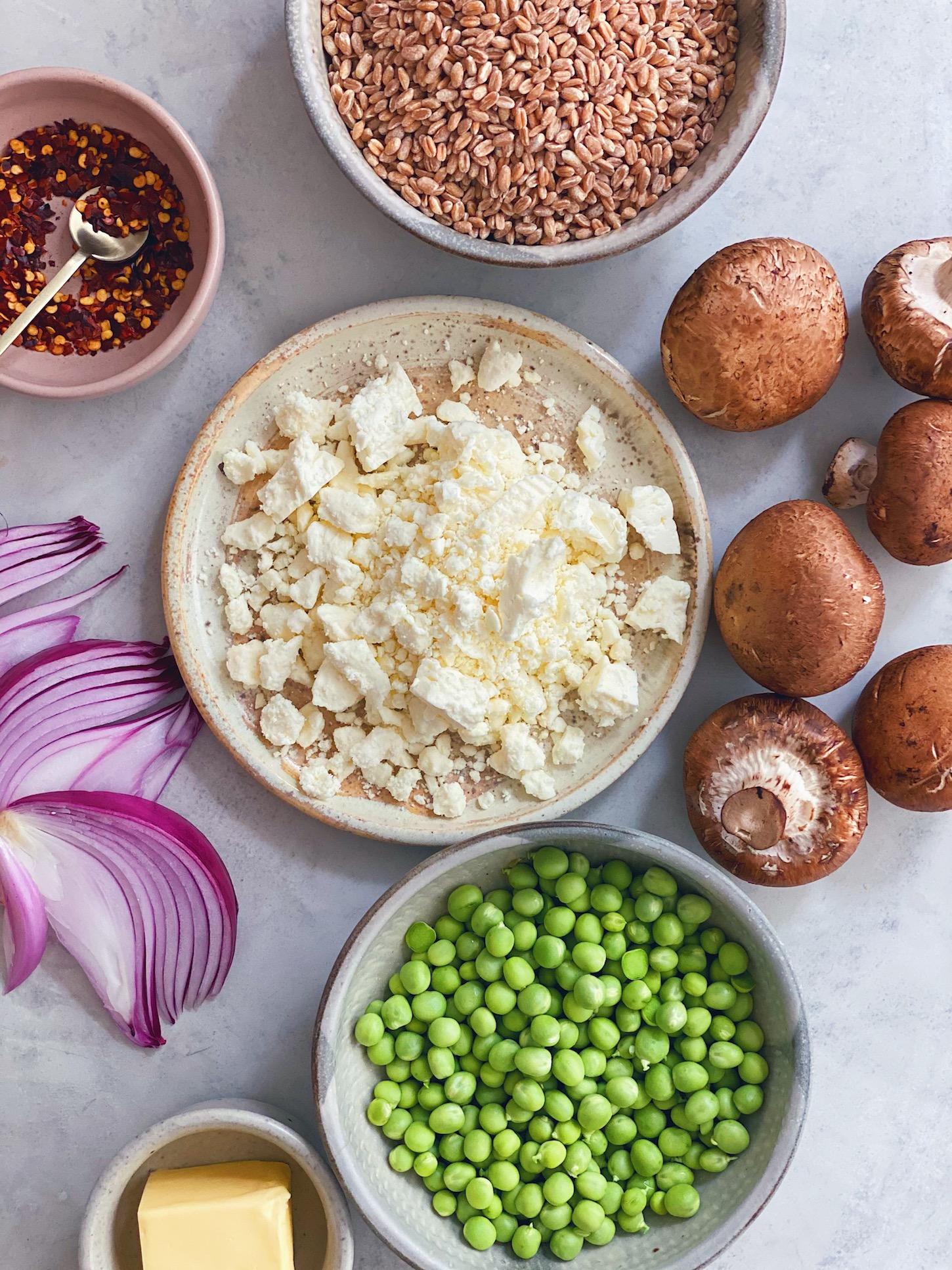 wu-haus-recipe-farro-risotto-feta-mushroom-pea
